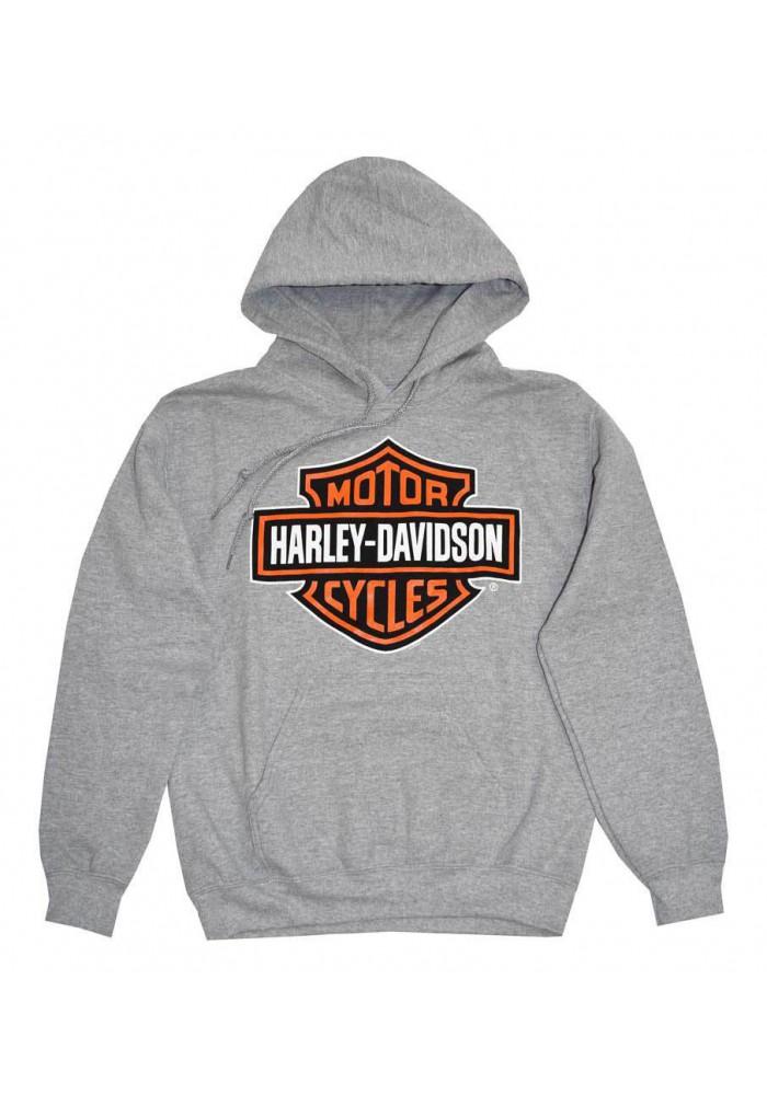 Harley Davidson Homme Pullover Sweatshirt, Bar & Shield , Gris 30296627