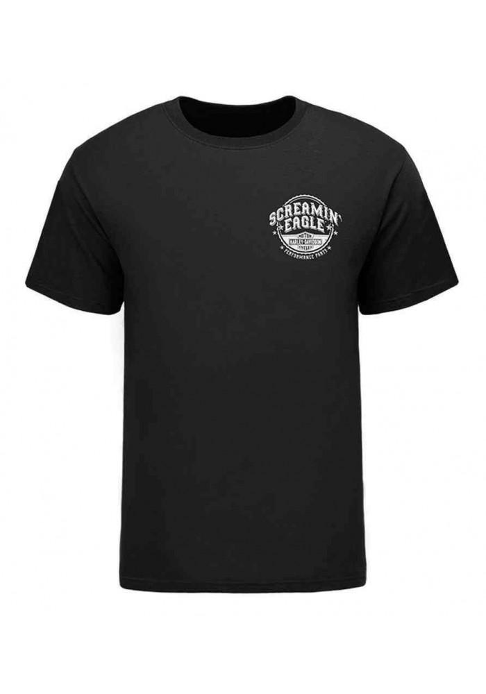 Harley Davidson Homme Eagle Bottle Cap T-Shirt Manches Courtes HARLMT0233