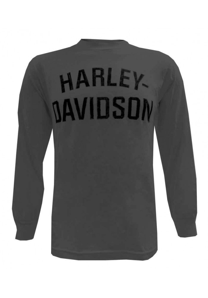 Harley Davidson Homme T-Shirt Heritage H-D Manches Longues Charcoal 30296639