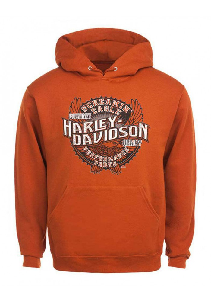 Harley Davidson Homme Eagle  The Legend Sweatshirt, Orange HARLMS0063