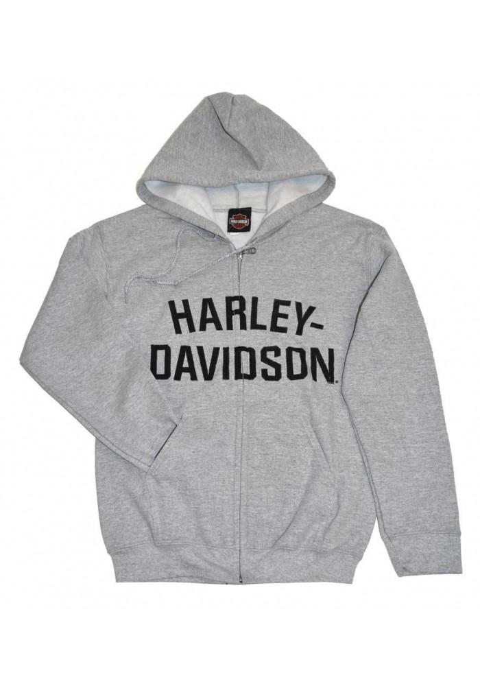 Harley Davidson Homme Sweatshirt à Capuche Veste, H-D Gris 30296640