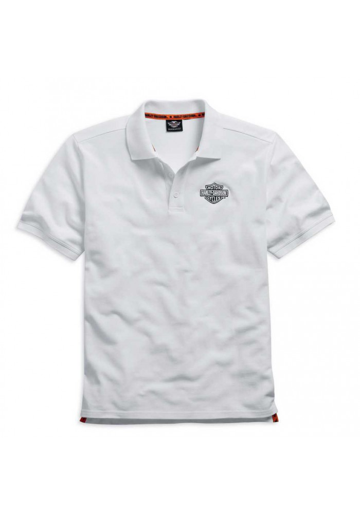 Harley Davidson Homme Polo, Brodée Rouge Bar & Shield Blanc 99008-15VM