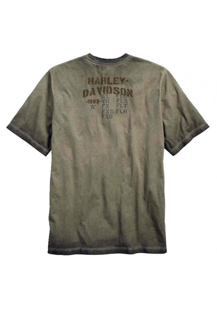 Harley Davidson Homme MC Skull Tee Shirt Manches Courtes, Asphalt Noir 96402-17VM