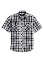 Harley Davidson Homme Performance Dirty Wash Chemise Blanche Plaid 96109-16VM