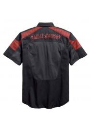 Harley Davidson Homme Performance Mesh Panel Chemise, Noir 96408-17VM