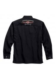 Harley Davidson Homme Pinstripe Flames Chemise Veste, Noir 99053-16VM