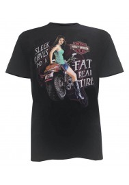 Harley Davidson Homme Rear Tire Pin-Up T-Shirt Manches Courtes, Noir 5503-HD2D