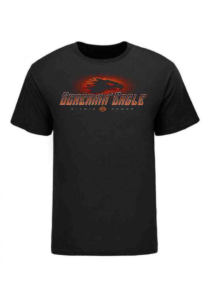 Harley Davidson Homme Eagle Uncaged T-Shirt Manches Courtes HARLMT0235