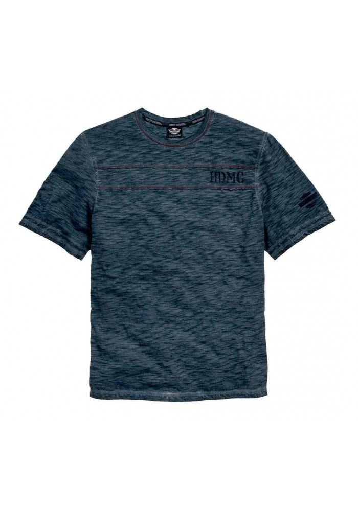 Harley Davidson Homme T-Shirt, Col Rond Slub HDMC Manches Courtes 96464-15VM