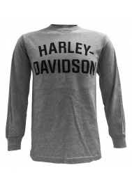 Harley Davidson Homme T-Shirt, Manches Longues, Heritage H-D Gris 30296638