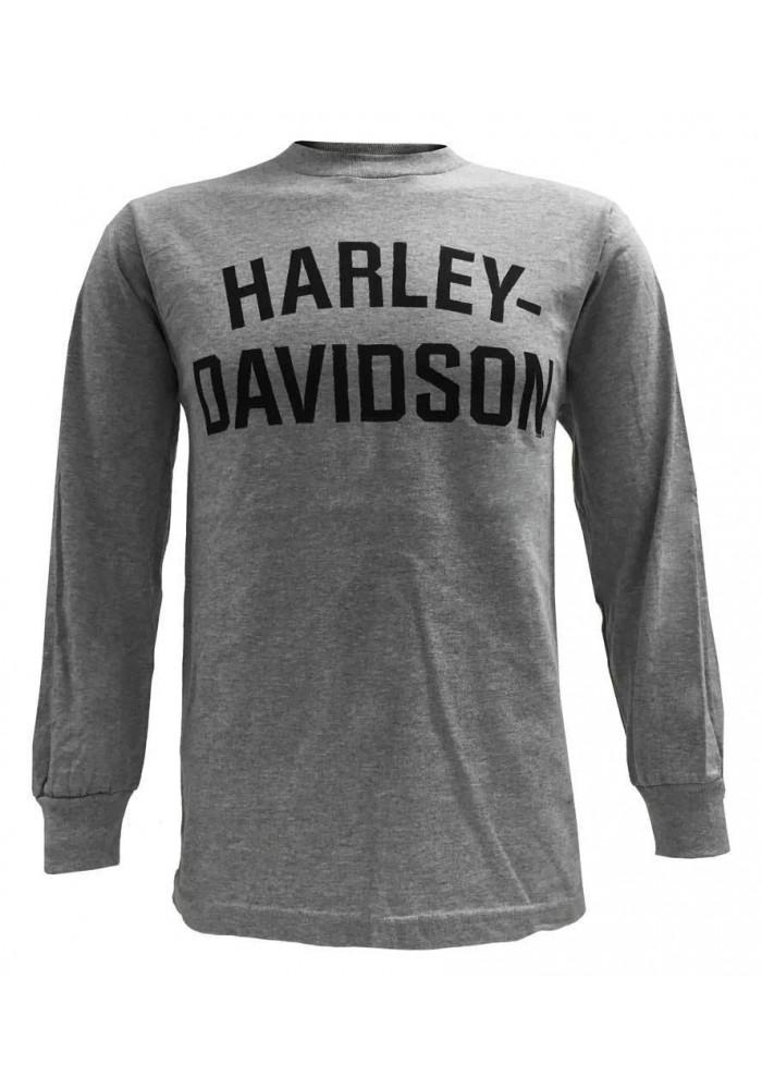 Harley Davidson Homme T-Shirt, Manches Longues, Heritage H-D Gris 30296638