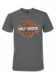 Harley Davidson Homme Bar & Shield T-Shirt Manches Courtes, Charcoal 30291958