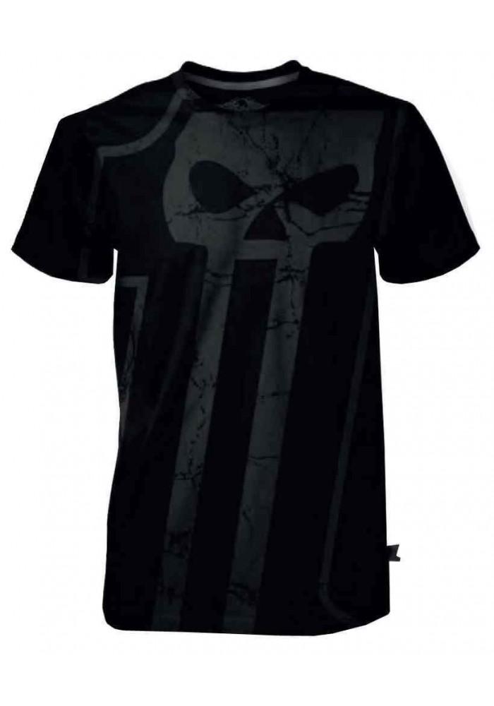 Harley Davidson Homme Black Label Big 1 T-Shirt Manches Courtes - Noir 30291533