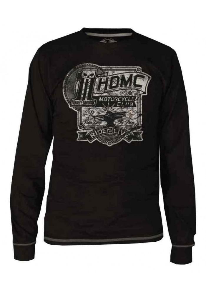 Harley Davidson Homme Black Label Iron Made Chemise Manches Longues - Noir 30291734