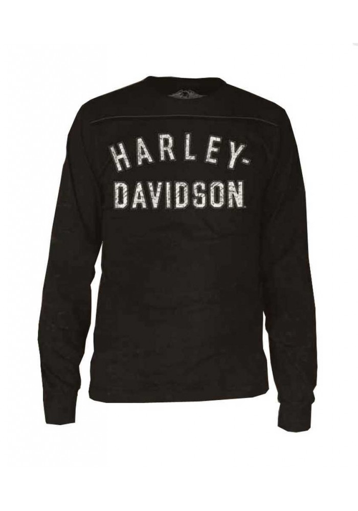 Harley Davidson Homme Black Label Chemise, Sporty Manches Longues, Noir 30293309