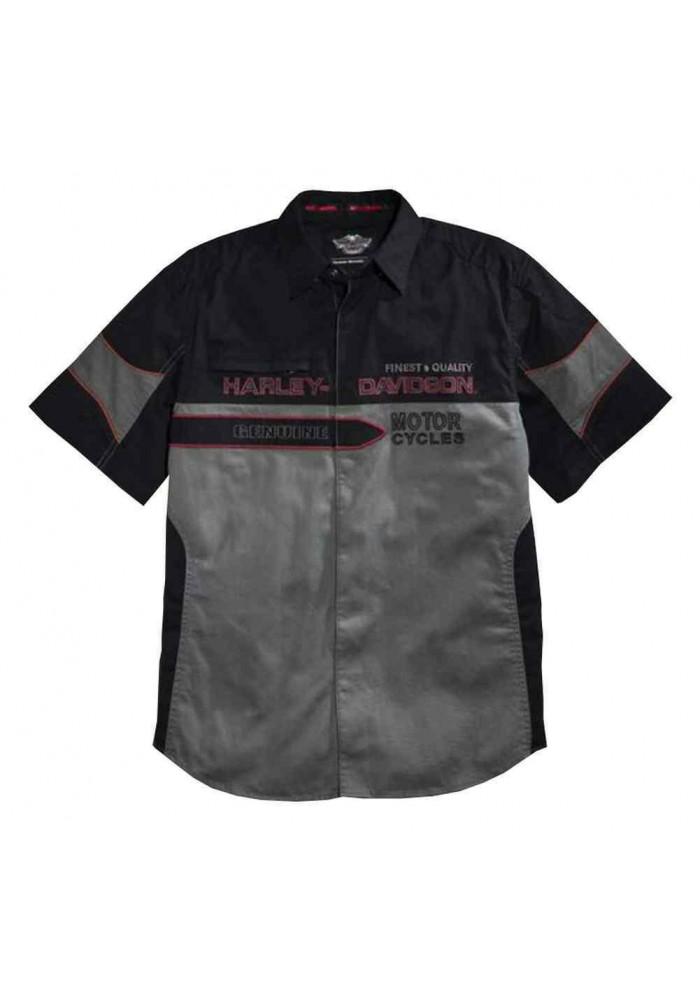 Harley Davidson Homme Finest Contrast Chemise Manches Courtes, 96112-16VM