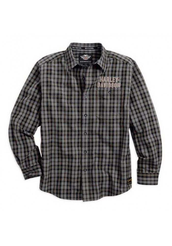 Harley Davidson Homme Genuine Classics Plaid Chemise Manches Longues 99095-14VM
