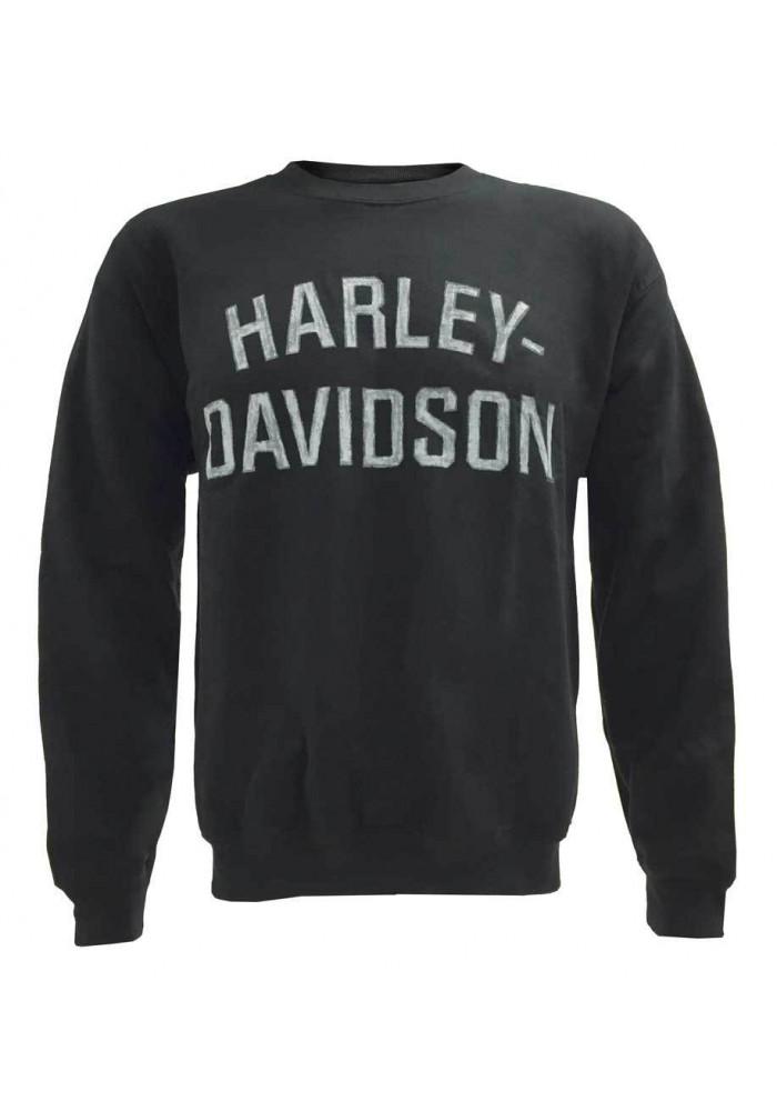 Harley Davidson Homme Heritage Pullover Crew Sweatshirt Noir H-D 30296636