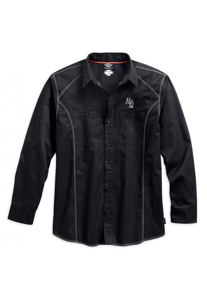 Harley Davidson Homme Performance Cold Noir Tech Chemise Manches Longues 99017-17VM