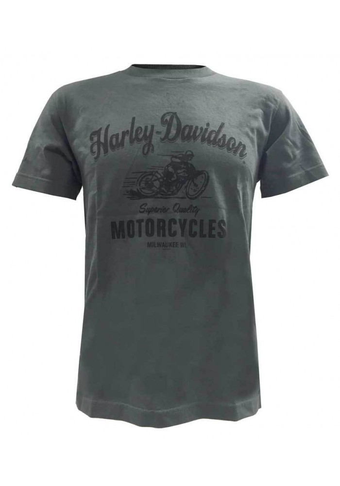 Harley Davidson Homme Superior Quality T-Shirt Manches Courtes Charcoal 30298313