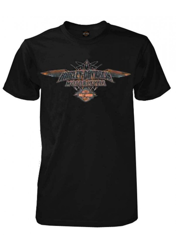 Harley Davidson Homme T-Shirt, All In The Details Graphic Manches Courtes, Noir