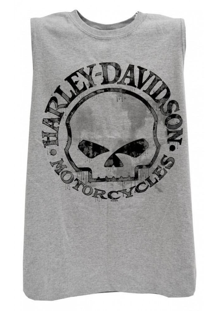 Harley Davidson Homme Willie G Skull Muscle Sable Tank Top Sans Manches 30296650