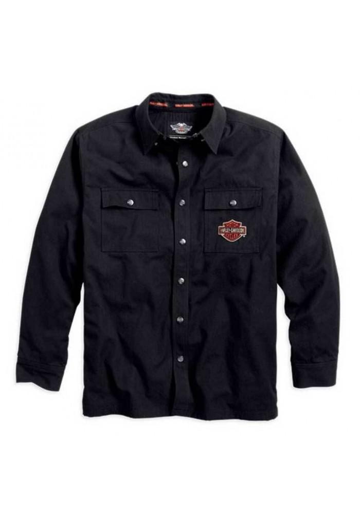Harley Davidson Homme Bar & Shield Flames  Chemise Veste 99088-14VM