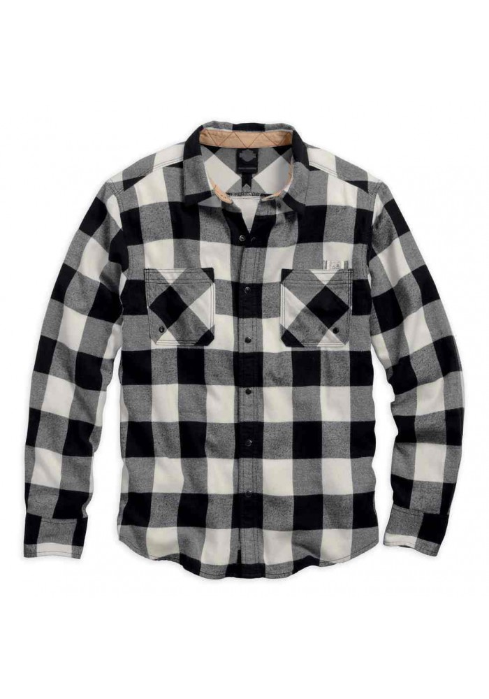 Harley Davidson Homme Black Label Core Buffalo Check Chemise 99058-16VM
