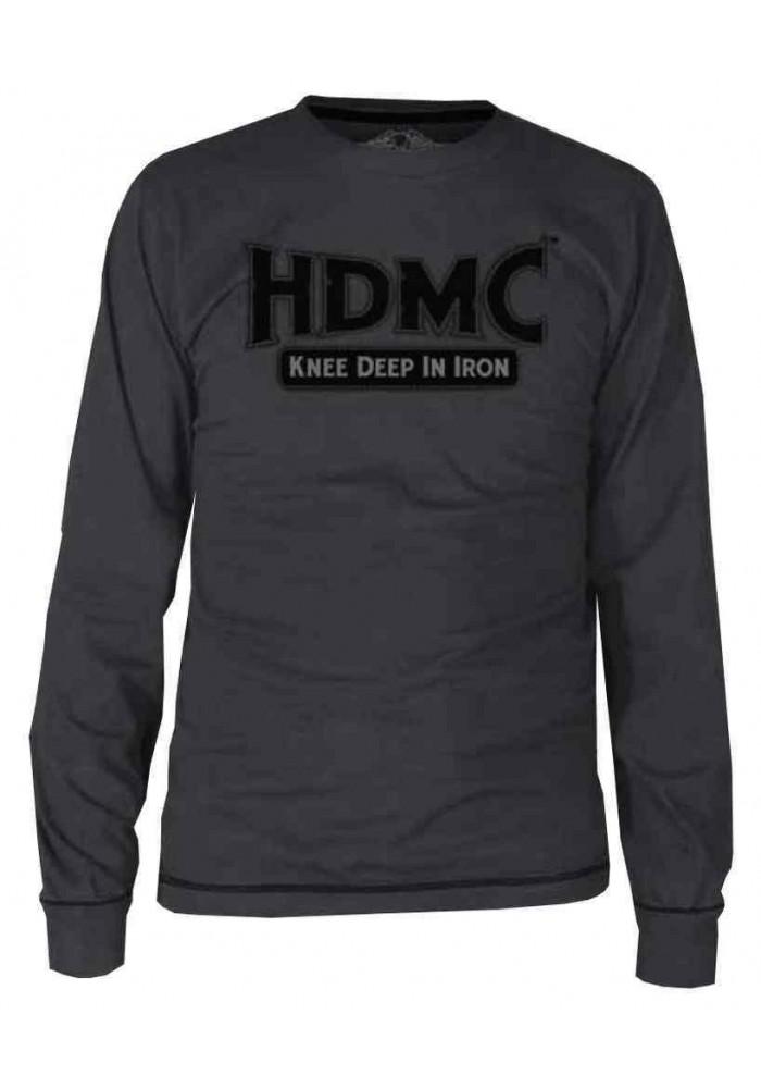 Harley Davidson Homme Black Label HDMC Stitch Chemise Manches Longues - Gris 30291728