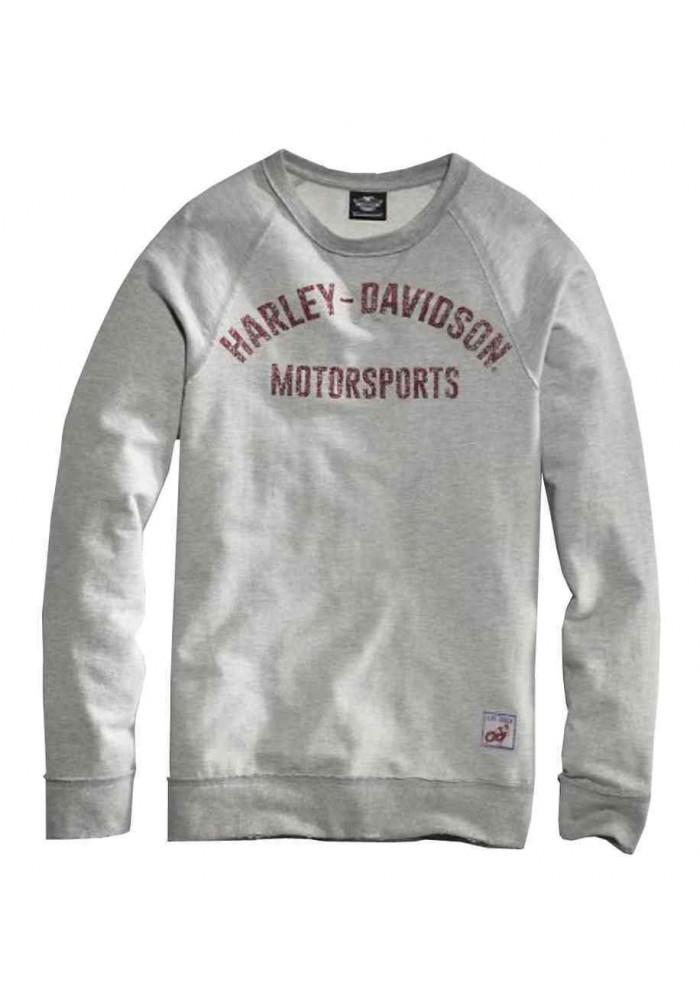Harley Davidson Homme Black Label Pullover Raw-Edge Sweatshirt, Gris 99005-16VM
