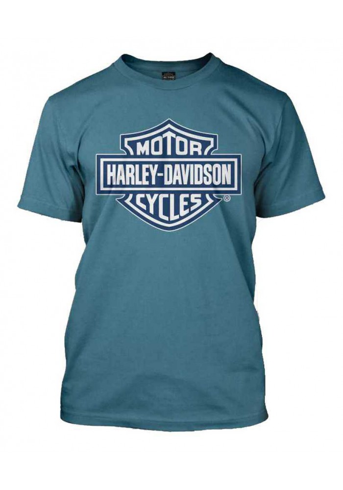 Harley Davidson Homme Bar & Shield Bleu Slate T-Shirt 30290594