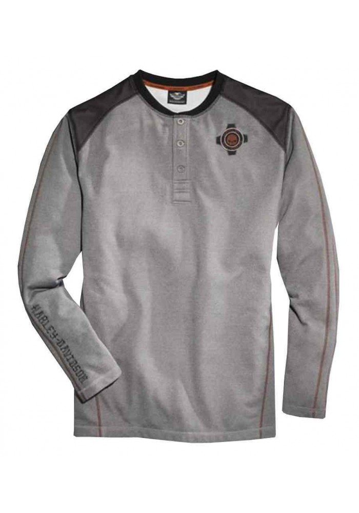 Harley Davidson Homme Performance Double- Manches Longues Henley 96071-16VM