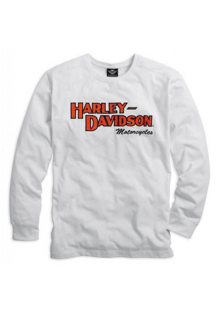 Harley Davidson Homme Prestige Manches Longues Blanc 99090-14VM