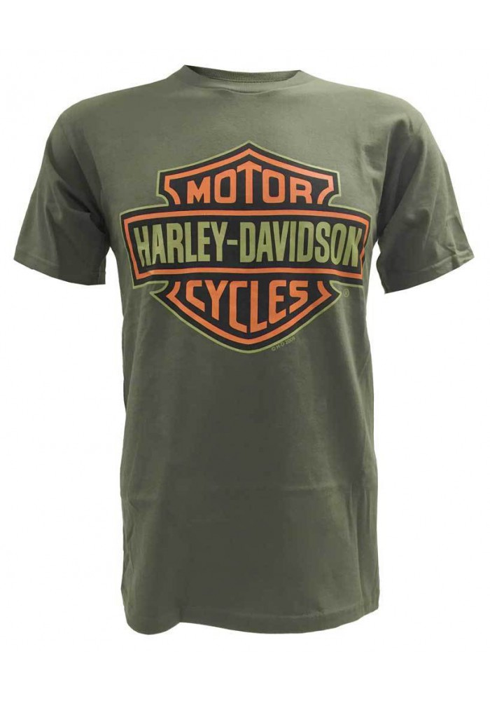 Harley Davidson Homme Bar & Shield Tee Shirt Manches Courtes, Vert 30290593