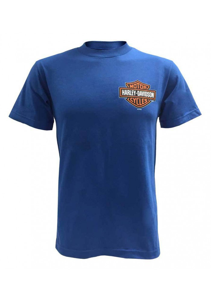 Harley Davidson Homme Bar & Shield T-Shirt Manches Courtes, Royal Bleu 30291741
