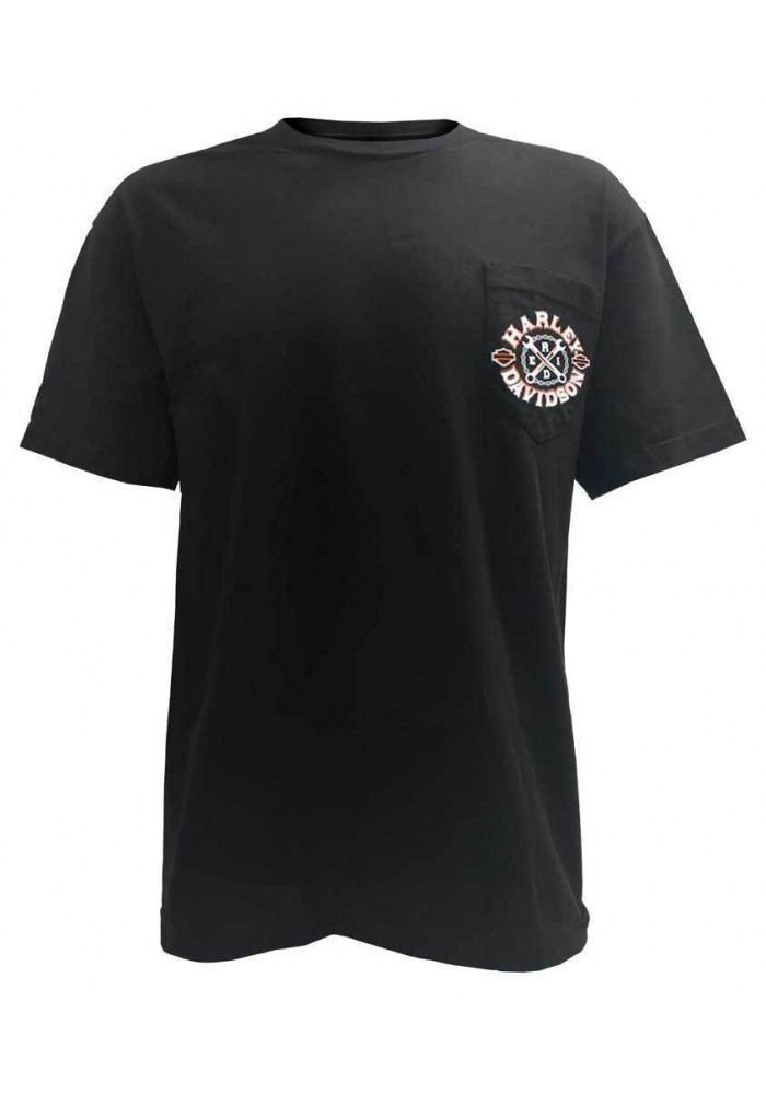 Harley Davidson Homme Crossed Up T-Shirt Noir 30291814