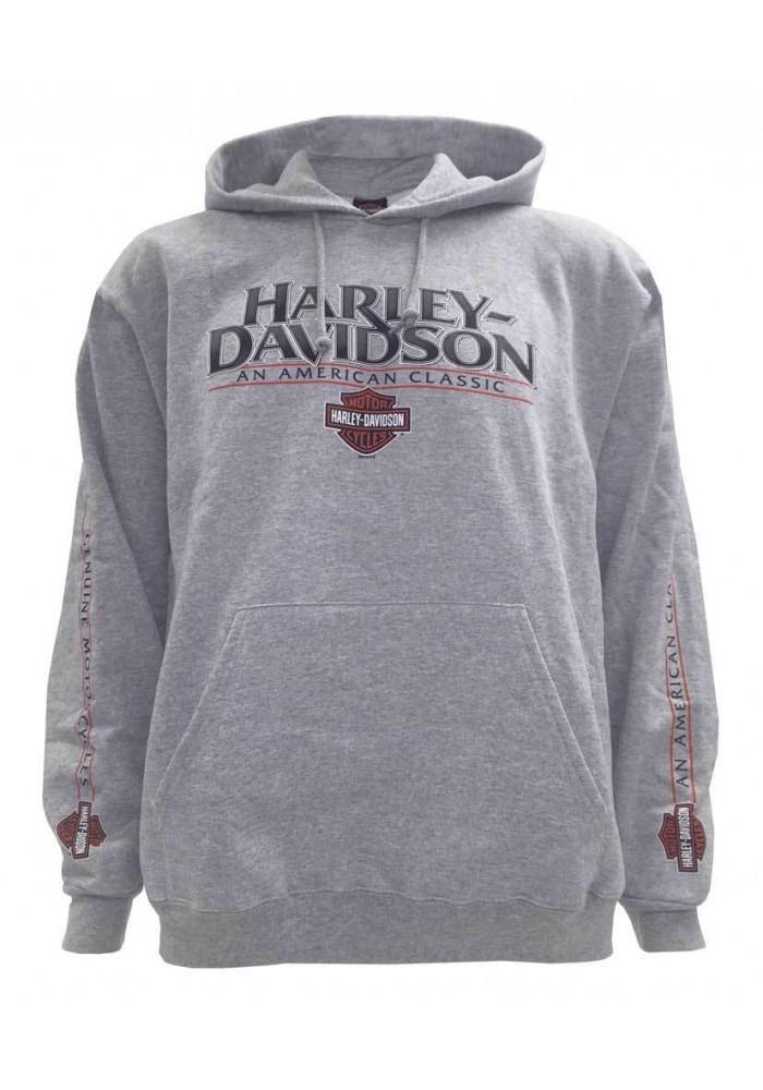 Harley Davidson Homme Gear Stone Pullover Sweatshirt à Capuche, Gris 5642-HC3R