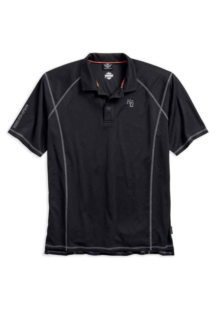 Harley Davidson Homme Performance Tech Polo, Noir 99006-17VM