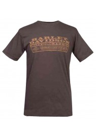 Harley Davidson Homme Pit Stop Fit Graphic T-Shirt, Chocolate