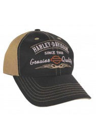 Harley Davidson Homme Harley Logo Back Casquette de Baseball Noir BCD16212