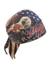 Harley Davidson Homme Ride Free American Flag bandana Moisture Wicking HW04184