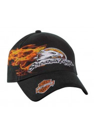 Harley Davidson Homme Screamin' Eagle Flames Stretch Fit Casquette de Baseball BC02030