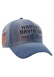 Harley Davidson Homme Old Glory Washed Bleu Jean's Casquette de Baseball Bleu BCC14928