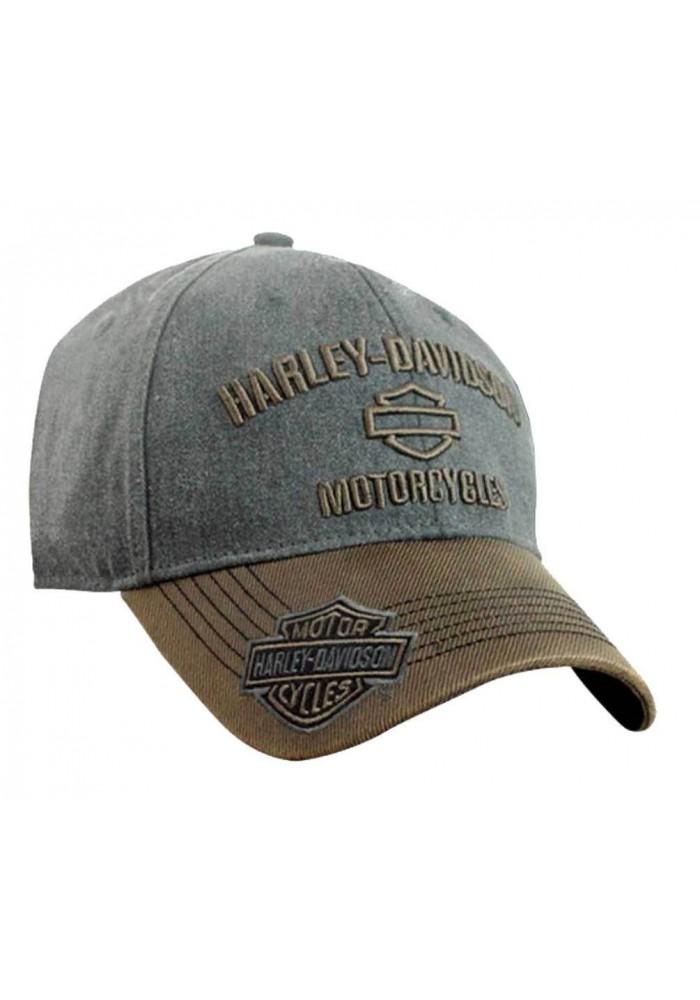 Harley Davidson Homme H-D Motorcycles Logo Casquette de Baseball Gris/Marron BCC51639