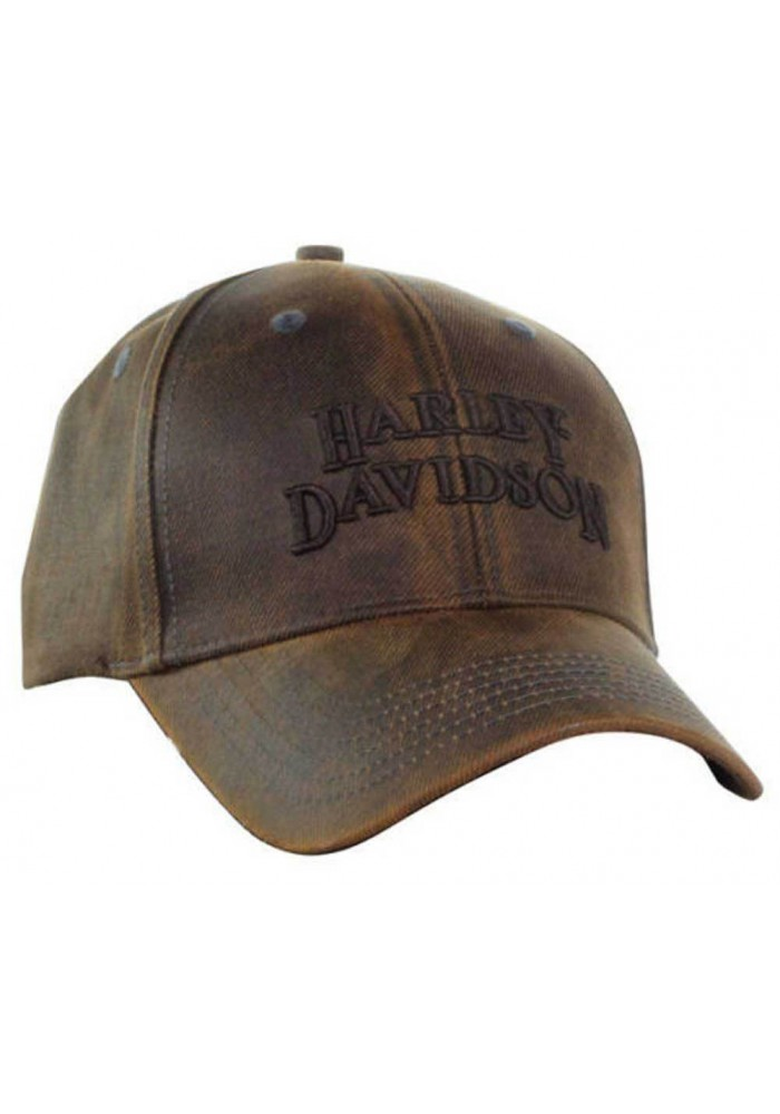 Harley Davidson Homme Regal Marron Stone Washed Casquette de Baseball Motorcycle BC111439