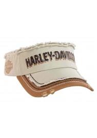 Harley Davidson Homme Visière Distressed Rugged H-D Script Khaki VIS51656