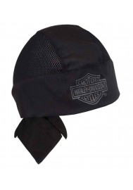 Harley Davidson Homme Air Flow Bar & Shield Bandanna Noir HW108030