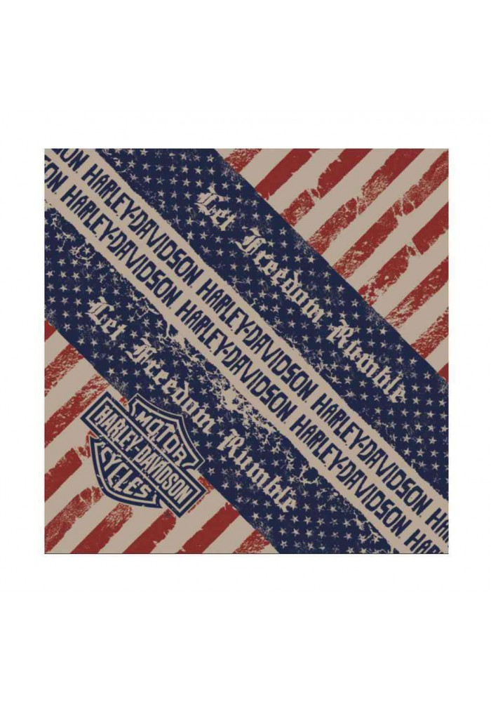 Harley Davidson Homme Bandana Let Freedom Rumble Patriotic Graphic BA10984