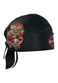 Harley Davidson Homme Live To Ride Eagle bandana Noir HW00930