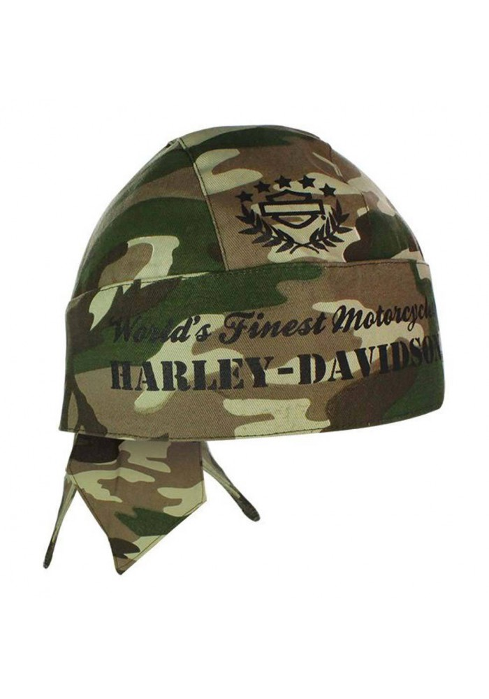 Harley Davidson Homme H-D Army Vert Camouflage bandana HW02225